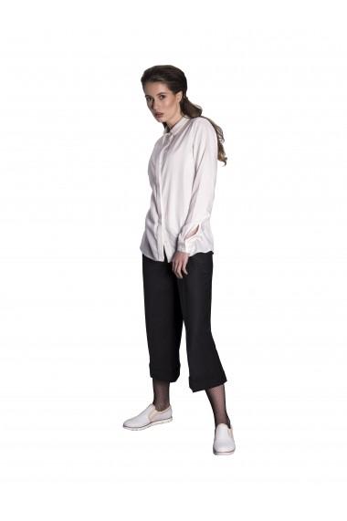 Pantaloni Culottes Couture de Marie din stofa neagra