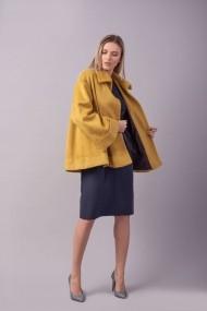 Pardesiu Couture de Marie 0008111 oversized din lana Petal Galben-mustar