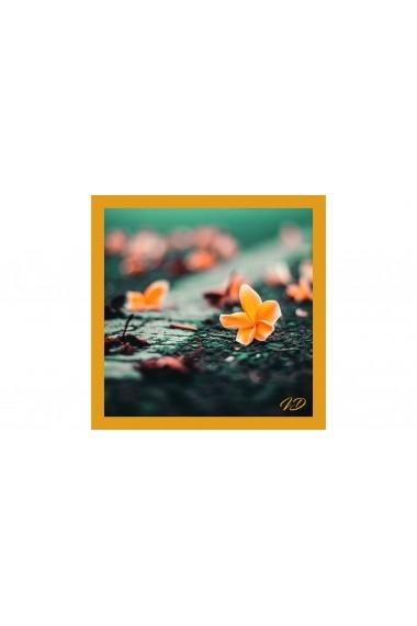 Esarfa Accesorii by ID 90X90 ORANGE FLOWER