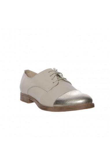 Pantofi piele Margarete Luisa Fiore bej auriu