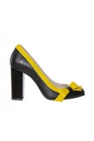 Pantofi cu toc Luisa Fiore Falcatus Negri