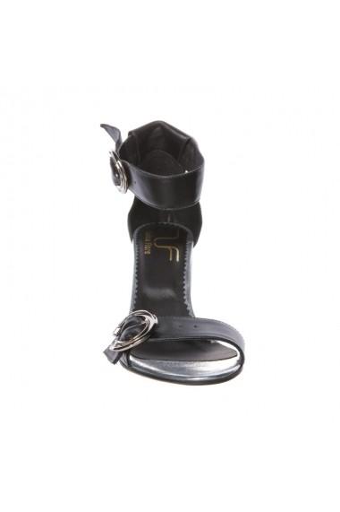 Sandale cu toc Luisa Fiore Marigold negru