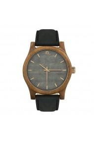 Ceas din lemn Neat n008 Gri - els