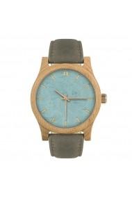 Ceas din lemn Neat n022 Albastru