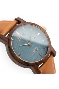 Ceas din lemn Neat n083 Albastru