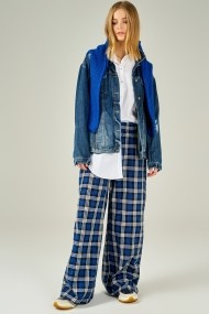 Pantaloni largi Boutiquen 5005 Albastru