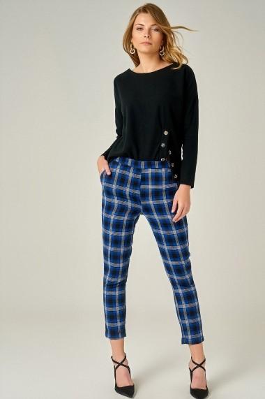 Pantaloni drepti Boutiquen 5001 Albastru