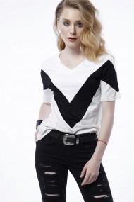 Тениска Bambina Mia OYO-KR1900-BEYAZ-WHITE Бял