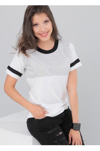 Tricou Bambina Mia KR1666-BEYAZ Alb