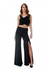 Pantaloni largi Bambina Mia KR1444-SIYAH Negru