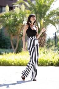 Pantaloni largi Bambina Mia KR2813 Dungi