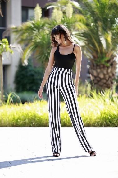 Pantaloni largi Bambina Mia KR2813 Alb - els