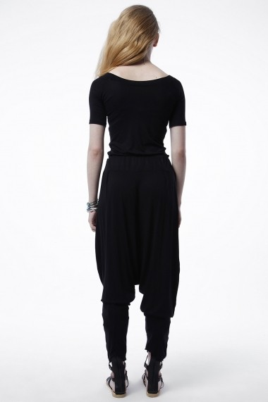 Pantaloni largi Bambina Mia KR1796-SIYAH Negru