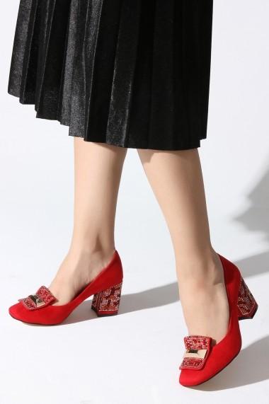 Pantofi cu toc ROVIGO 0385857-01 rosu