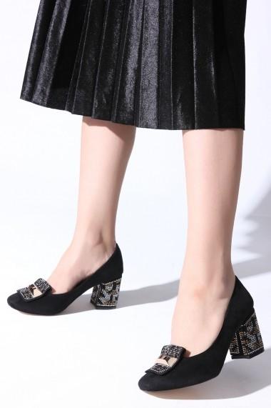 Pantofi cu toc ROVIGO 0385857-02 negru