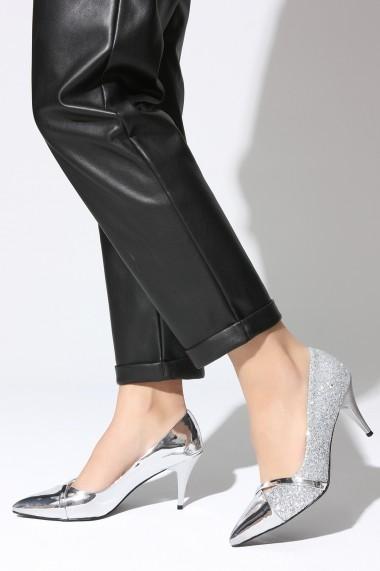 Pantofi cu toc ROVIGO 20141166-2-02 argintiu