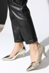 Pantofi cu toc ROVIGO 20141166-2-04 auriu