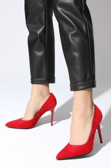 Pantofi cu toc ROVIGO 2014244-2-10 rosu