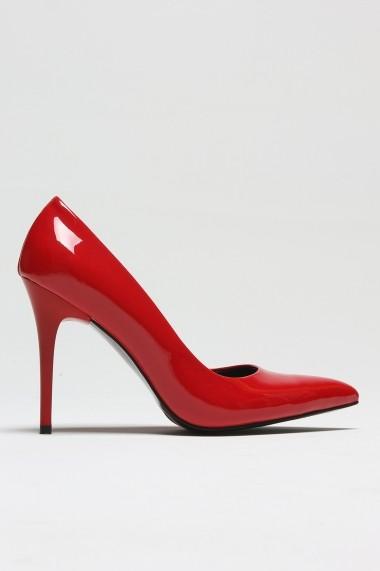 Pantofi cu toc ROVIGO 2014244-2-15 rosu - els