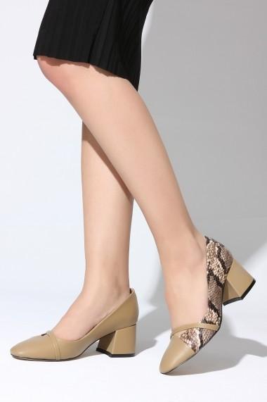Pantofi cu toc ROVIGO 2014766-2-02 animal print