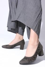 Pantofi cu toc ROVIGO 5631167-1-07 kaki