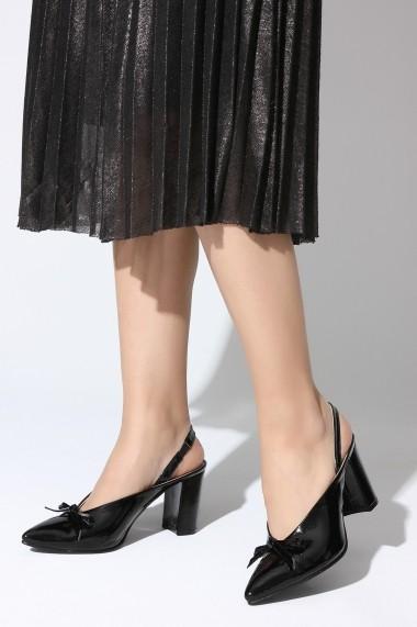 Sandale cu toc ROVIGO 5631204-1-03 negru
