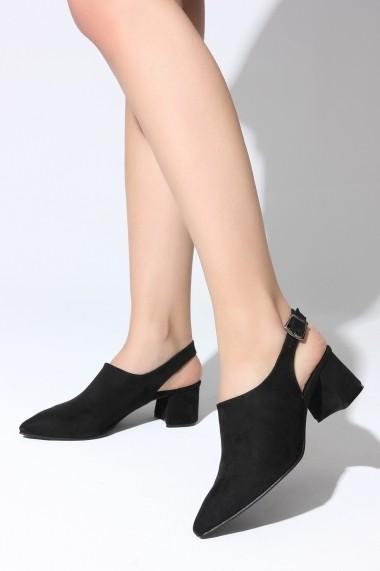 Sandale cu toc ROVIGO 5631920-02 negru
