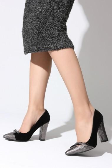 Pantofi cu toc ROVIGO 8112019-02 negru
