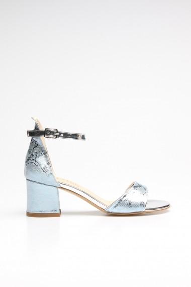 Sandale cu toc ROVIGO 0776004-03 albastru