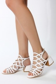 Sandale cu toc ROVIGO 563012-01 alb