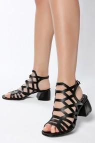 Sandale cu toc ROVIGO 563012-04 negru