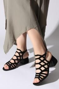 Sandale cu toc ROVIGO 563012-07 negru