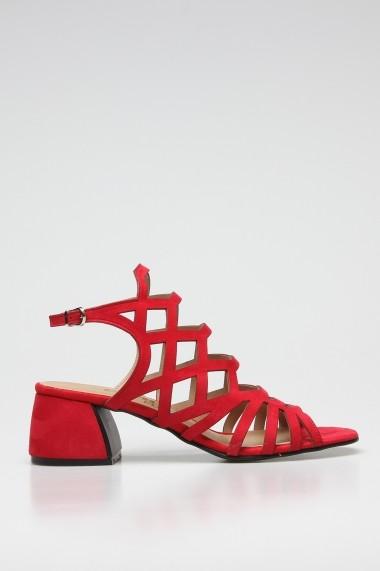 Sandale cu toc ROVIGO 563012-08 rosu