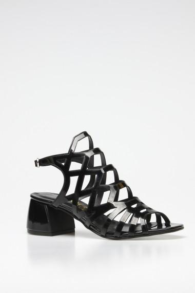 Sandale cu toc ROVIGO 563012-09 negru