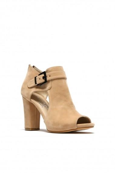 Sandale cu toc ROVIGO 5634564-04 bej - els
