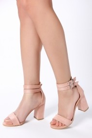 Обувки с ток ROVIGO 900251-06-POWDER_SUEDE розово