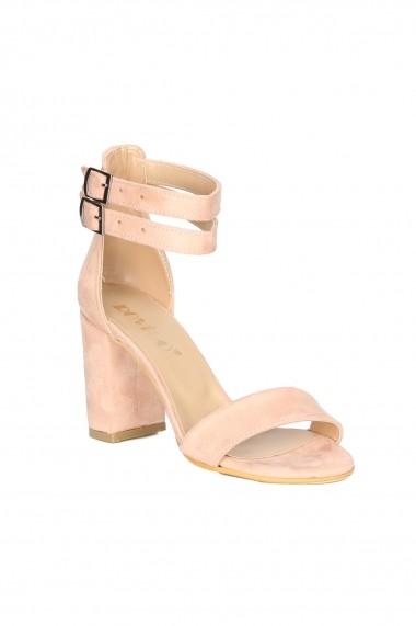Sandale cu toc ROVIGO 900251-06 roz