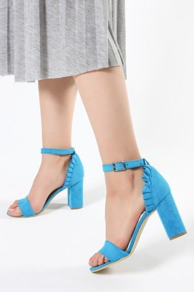 Sandale cu toc ROVIGO 900253-06 turcoaz