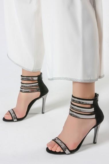 Sandale cu toc ROVIGO 900902-01 negru