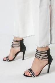 Sandale cu toc ROVIGO 900903-01 negru