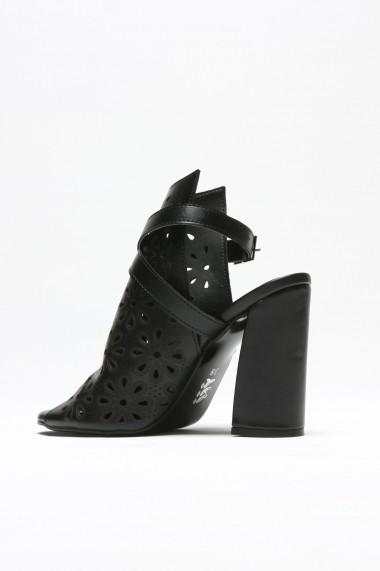 Sandale cu toc ROVIGO 900915-01 negru