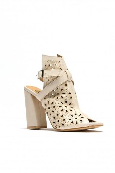Sandale cu toc ROVIGO 900915-03 bej