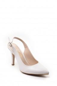 Pantofi cu toc SAPIN 23421 Alb