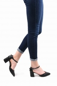 Pantofi cu toc SAPIN 23016 Negru