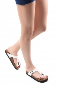Papuci SAPIN 23401 Alb