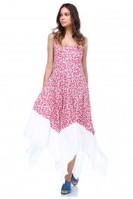 Rochie lunga de zi DONNA ROSSA EB2610 Floral
