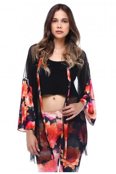 Kimono DONNA ROSSA HK2128 Floral