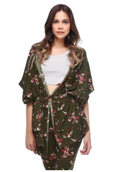 Kimono DONNA ROSSA HK2130 Floral