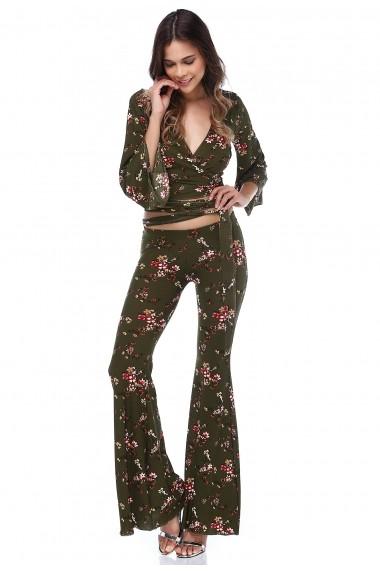 Pantaloni largi DONNA ROSSA DP3021 Floral