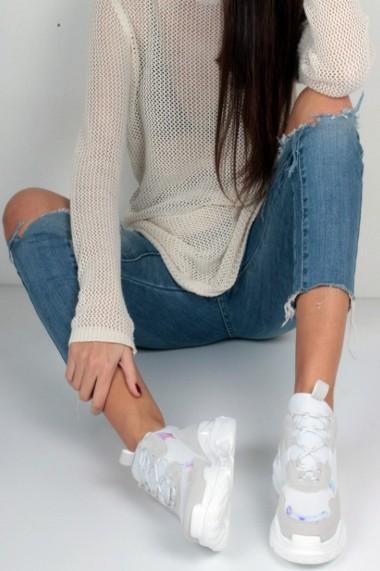 Pantofi sport casual Inan Ayakkabi INAY5623GRST alb